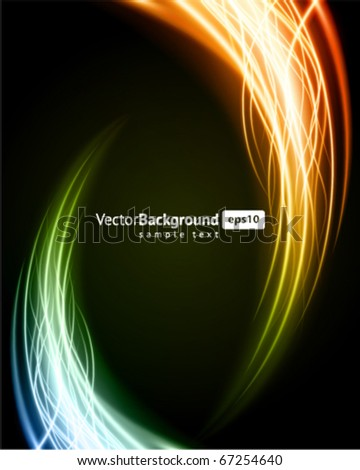 Abstract burn flame fire vector background