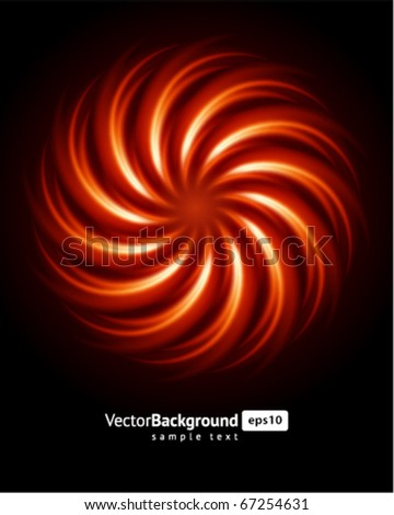 Abstract burn fractal vector background