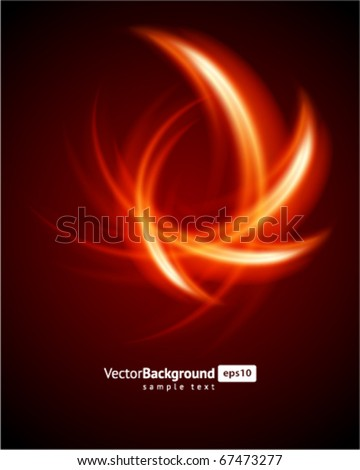 abstract burn fractal vector