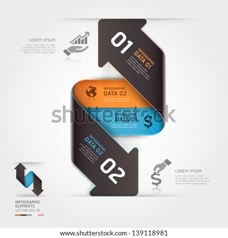 Abstract business arrow infographics template. Vector illustration. can be used for workflow layout, diagram, number options, business step options, banner, web design
