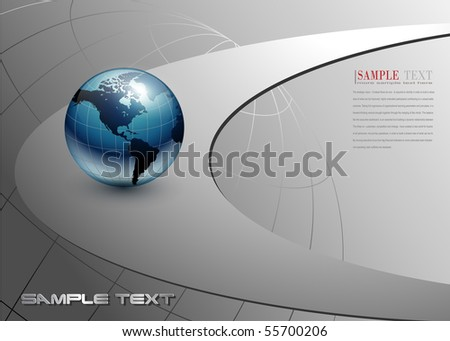 abstract business background blue and grey, vector.