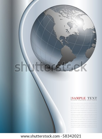 abstract business background blue metallic, vector.
