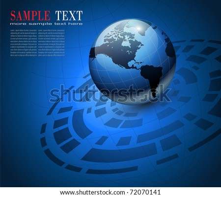 Abstract business background  blue, vector illustration.
