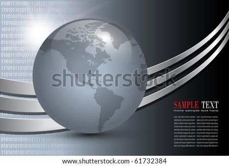 Abstract business background dark grey, vector.