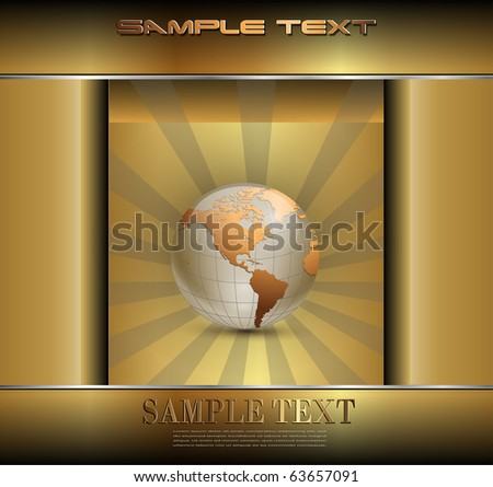 Abstract business background gold, vector. - stock vector