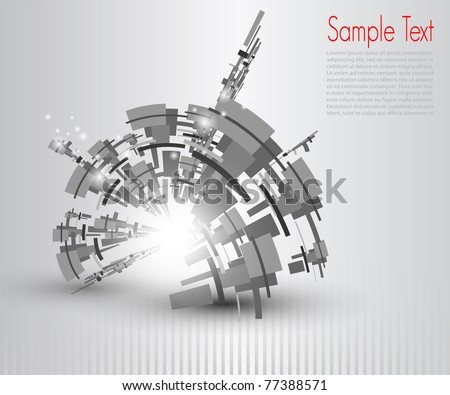 Abstract business background grey, vector - stock vector