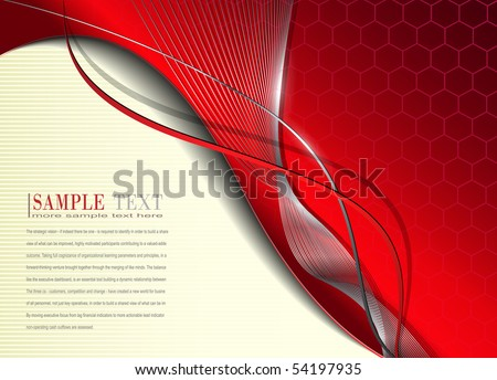 Abstract business background  red metallic, vector. - stock vector