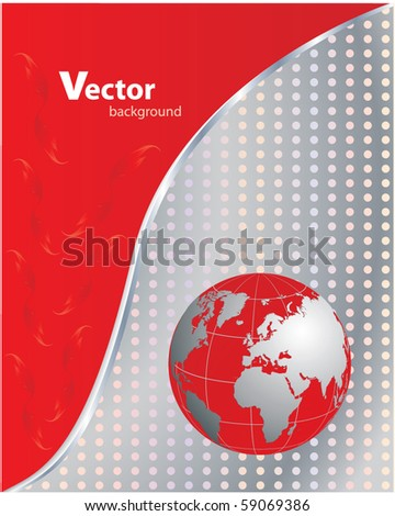 abstract business background - red-metallic, vector