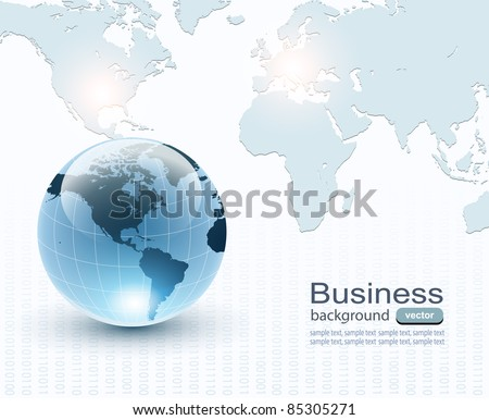 Abstract business background soft blue. vector