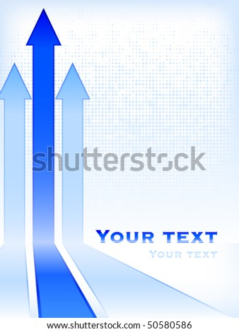 Abstract business background with arrows