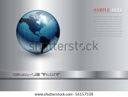 Abstract business background with blue earth world