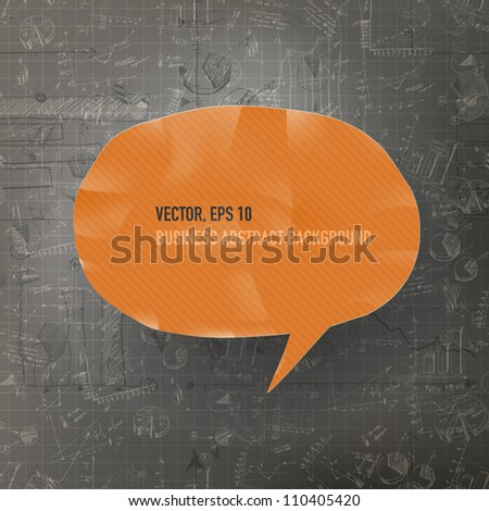 Abstract business background with graphs. Vector illustration, EPS10