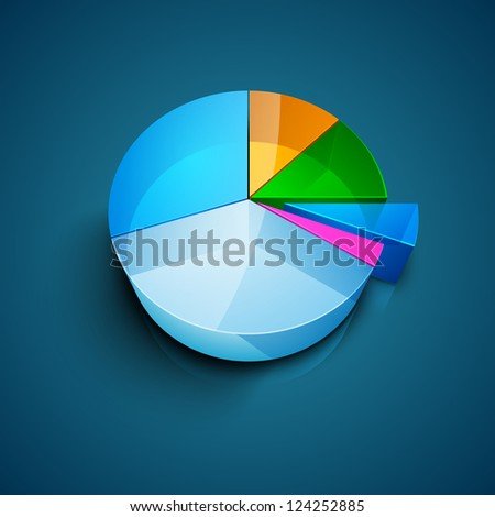 Abstract business background with pie chart. EPS 10.