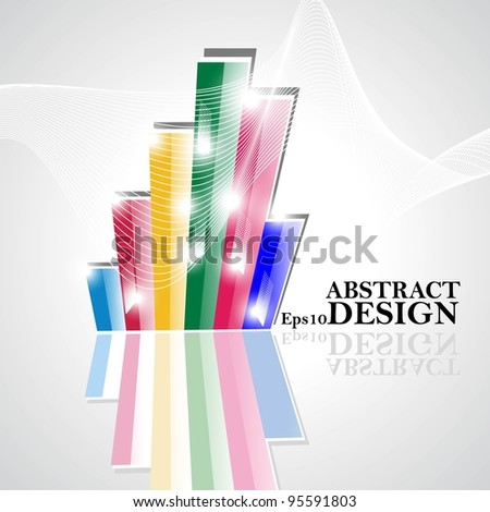 Abstract  business background with vector illustration.
