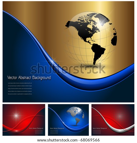 Abstract business backgrounds beautiful set, vector