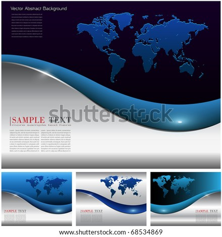 Abstract business backgrounds elegant set, vector