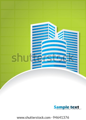 Abstract business building brochure design with text