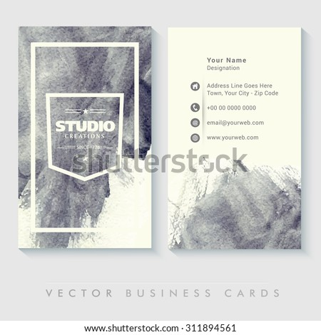 abstract business card set with
