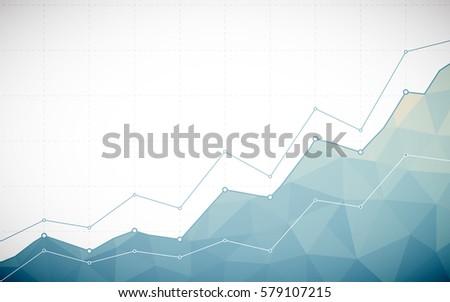 Vetores de grfico de tringulo download vetores e grficos gratuitos abstract business chart with line graph and gradient blue color polygon on white color background ccuart Choice Image