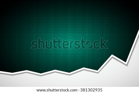 abstract business chart with