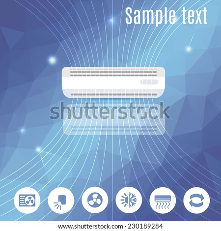 abstract business design banner template ( ventilation and conditioning system)