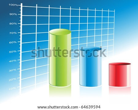 abstract business growth background, vector illustration