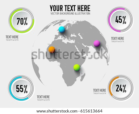 abstract business infographics