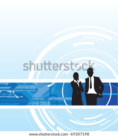 abstract business people
