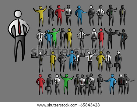 abstract business people figures