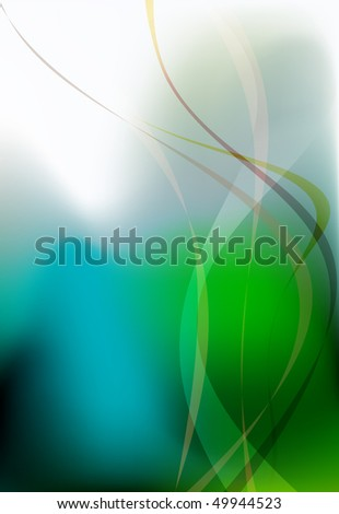 Abstract business presentation background in blue and green - stock vector