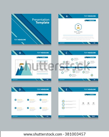 Abstract Business Presentation Template Slides Background .info  Graphic.material Design Style. Corporate Layout