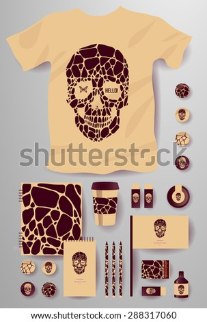 abstract  business set with