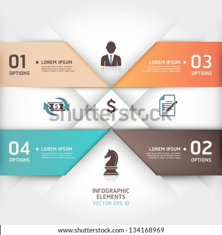 Abstract business steb origami style options banner. Vector illustration. can be used for workflow layout, diagram, number options, step up options, web design, infographics.