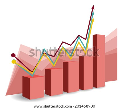 Abstract Business Target Graph and Chart