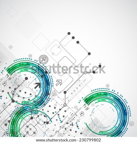Abstract business template background Technology theme vector