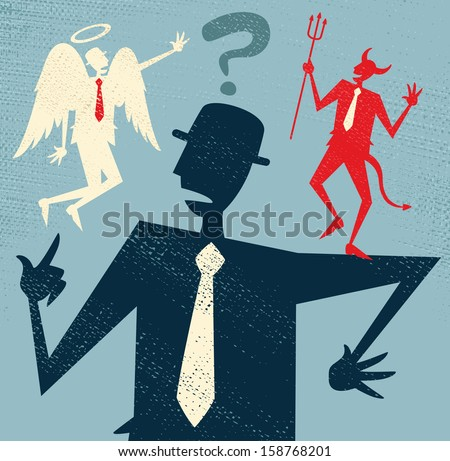 abstract businessman has a...