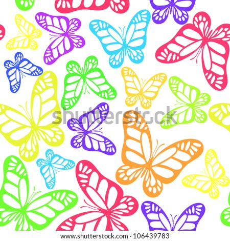 Abstract butterfly colorful seamless pattern background