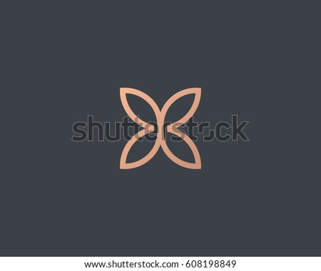 abstract butterfly flower