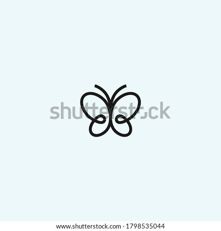 abstract butterfly logo. butterfly icon