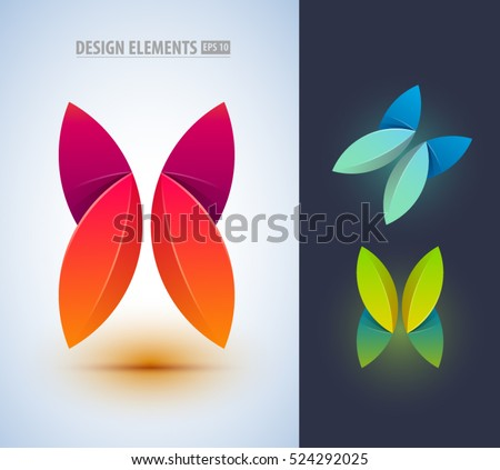 abstract butterfly logo design