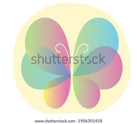 Abstract Butterfly logo template design