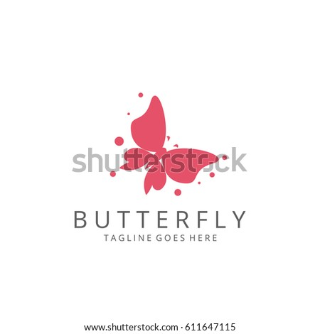 Abstract butterfly logotype