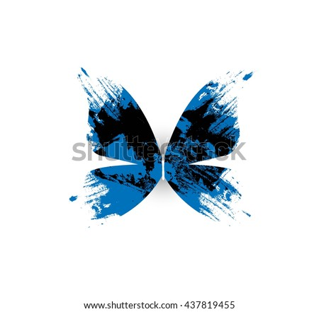 abstract butterfly on white