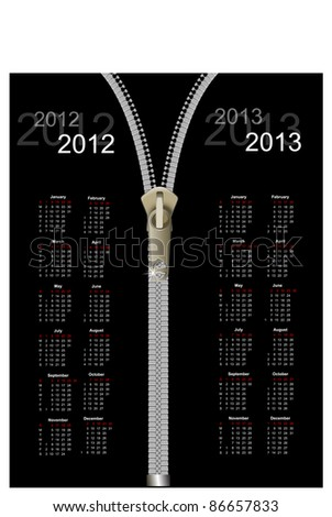 Abstract calendar 2012, 2013