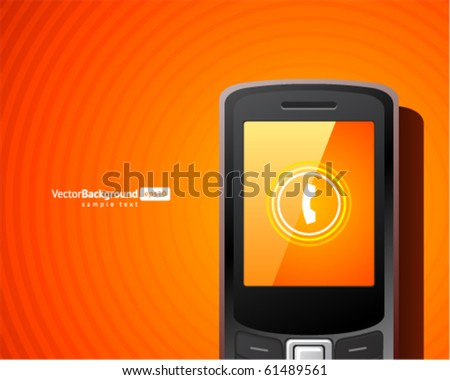 Abstract call mobile phone vector background. Eps 10