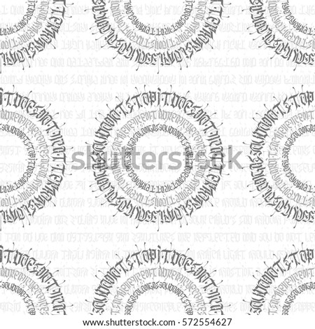 Abstract calligraphy pattern design in arabic or gothic style. Black typeface on white background. Great for product logo, clothing brand, prints, invitation, business cards and much more