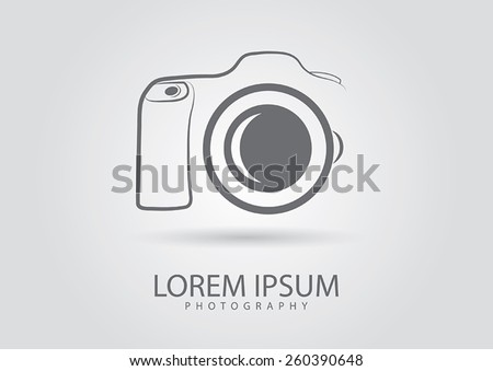 Abstract camera logo.Camera icon design silhouette in vector format