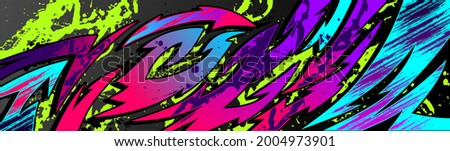 Abstract Car decal design vector. Graphic abstract stripe racing background kit designs for wrap vehicle, race car, rally, adventure and livery