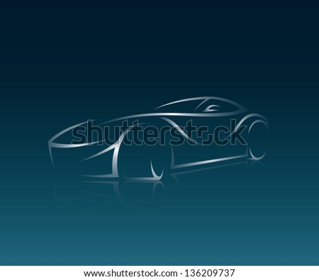 abstract car illustration