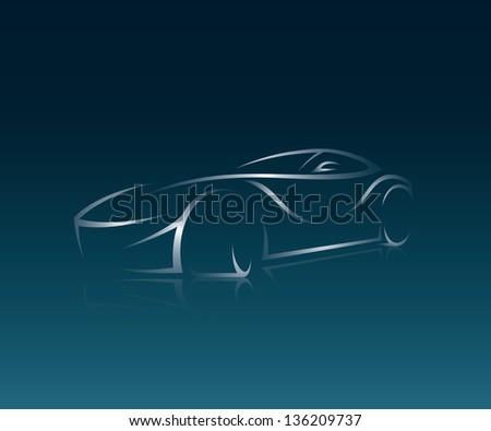 abstract car illustration